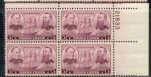 US Stamp #792 MNH – Admirals Farragut and Porter – Plate Block of 4