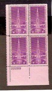 US Stamp #852 MNH – Golden Gate International Exhibition – Plate Block of 4