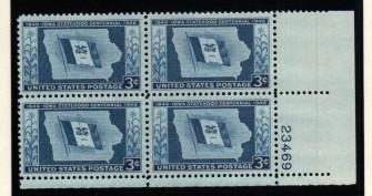 US Stamp #942 MNH – Iowa Statehood – Plate Block of 4