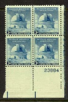 US Stamp #966 MNH – Mount Palomar – Plate Block of 4