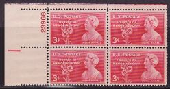 US Stamp #977 MNH – Moina Michael – Plate Block of 4