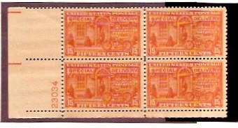 US Scott #E16 MNH – Special Delivery – Plate Block of 4