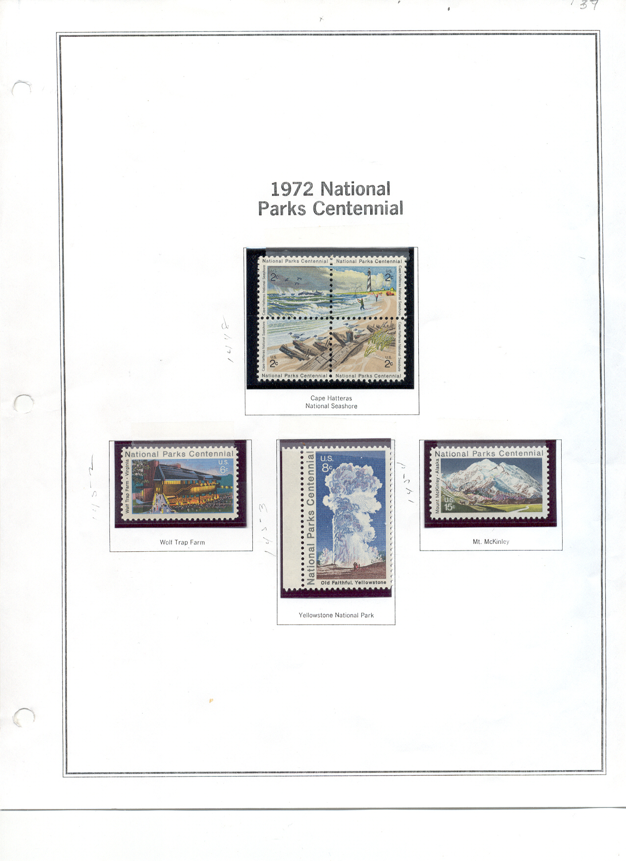 US Stamp Collection MNH – Minkus Pages 1951-1972