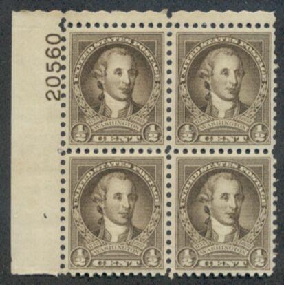 US Stamp #704 MNH – George Washington Bicentennial Plate Block of 4