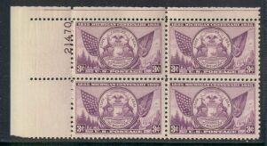 US Stamp #775 MNH – Michigan Centenary – Plate Block of 4