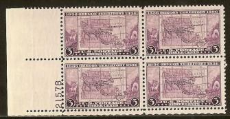 US Stamp #783 MNH – Oregon Territory – Plate Block of 4