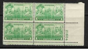 US Stamp #790 MNH – NAVY Issue – Plate Block of 4