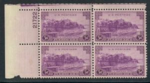 US Stamp #801 MNH – Puerto Rico Issue – Plate Block of 4
