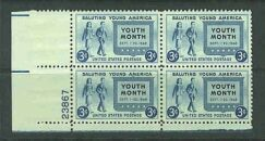 US Stamp #963 MNH – Youth Month – Plate Block of 4