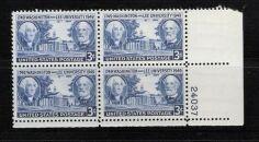 US Stamp #982 MNH – Washington and Lee University – Plate Block of 4