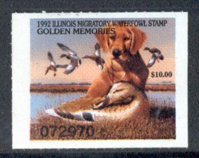 US Scott #IL18 MNG – GREAT Golden Retriever and Mallards