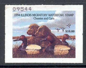 US Scott #IL20 MNG – Retriever Pups and Decoys