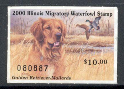 US Scott #IL26 MNG – GREAT Golden Retriever and Mallards