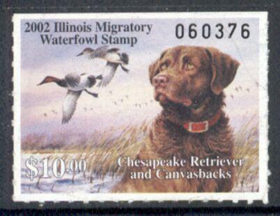 US Scott #IL28 MNG – Chesapeake Retriever and Canvasback Ducks