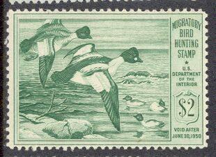 US Scott #RW16 MNH – GREAT Goldeneye Ducks in Flight