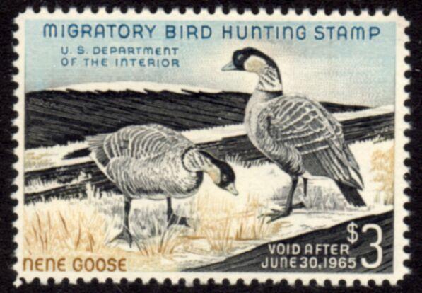 US Scott #RW31 MNH – NICE Nene Geese Pair Feeding