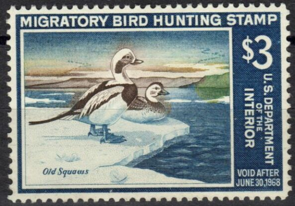 US Scott #RW34 Mint – PHANTASTIC Pair of Old Squaw Ducks