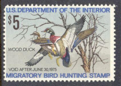 US Scott #RW41 MNG – WONDERFUL Wood Ducks Pair
