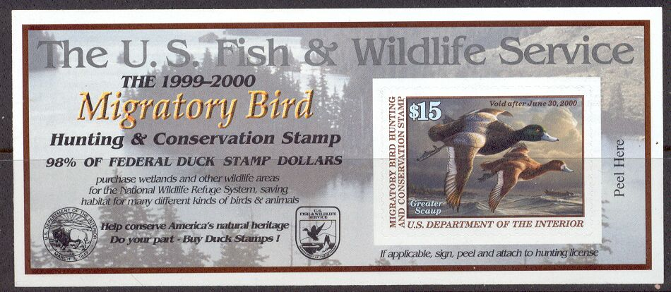 US Scott #RW66A MNH – GREAT Greater Scaups Self-Adhesive