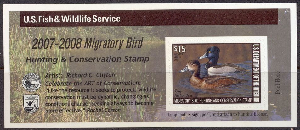 US Scott #RW74A MNH Remarkable Ring-Necked Ducks Self-Adhesive