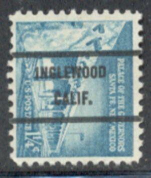 US Stamp #1031Ax71 Palace of Govs. w/ #71 Inglewood Calif Precancel