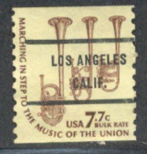 US Stamp #1614×71 Americana w/ #71 Los Angeles Calif Precancel
