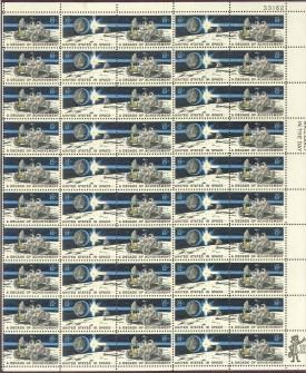US Stamp #1434-1435 MNH – Moon Rover – Full Sheet