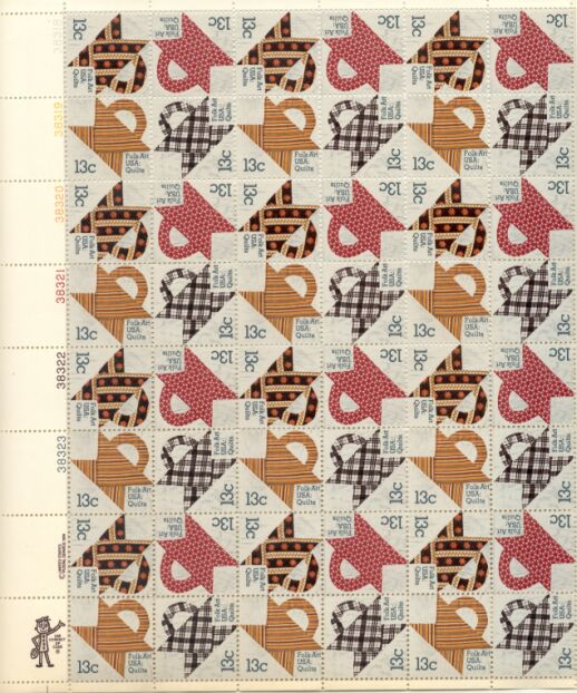 US Stamp #1745-8 MNH – American Quilts – Full Sheet
