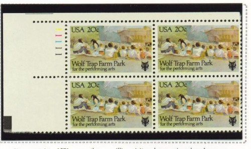 US Stamp #2018 MNH – Wolf Trap Farm – Plate Block of 4