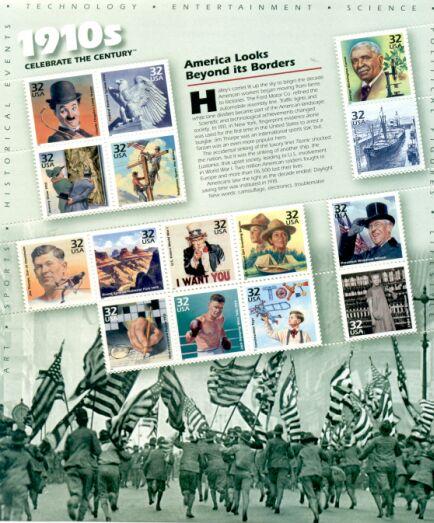 US Stamp #3183 MNH – Celebrate the Century 10's – Full Sheet