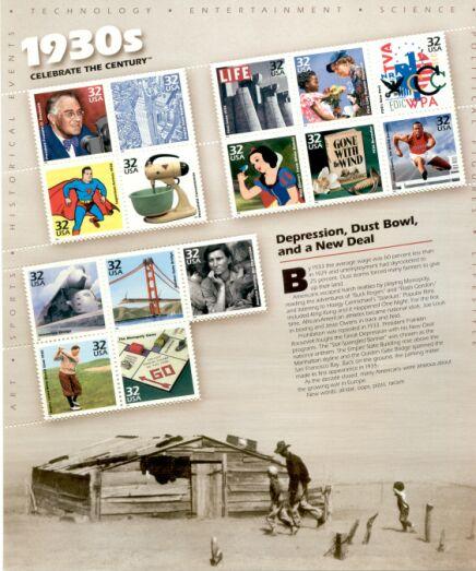 US Stamp #3185 MNH – Celebrate the Century 30's – Full Sheet