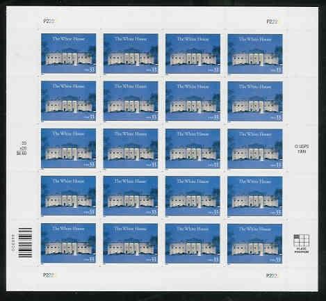 US Stamp #3445 MNH – White House – Full Sheet