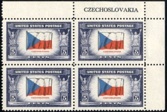 US Stamp #910 MNH – Overrun Nations – Name Block of 4