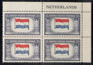 US Stamp #913 MNH – Overrun Nations – Name Block of 4