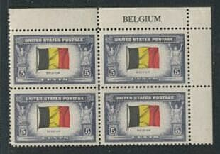 US Stamp #914 MNH – Overrun Nations – Name Block of 4