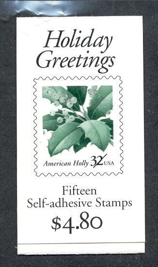 US Stamp #BK264 MNH – Holiday Greetings Booklet