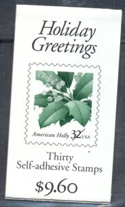 US Stamp #BK265 MNH – Holiday Greetings Booklet