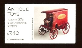 US Stamp #BK292 MNH – Antique Toys Booklet