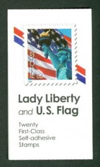 US Stamp #BK300 MNH – Flag/Lady Liberty Booklet