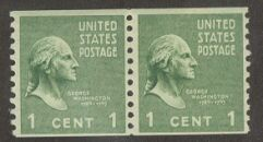 US Stamp # 839 MNH – Prexie Coil Pair – 1 cent