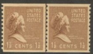 US Stamp # 840 MNH – Prexie Coil Line Pair – 11/2 cent