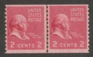 US Stamp # 841 MNH – Prexie Coil Line Pair – 2 cent