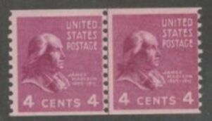 US Stamp # 843 MNH – Prexie Coil Line Pair – 4 cent
