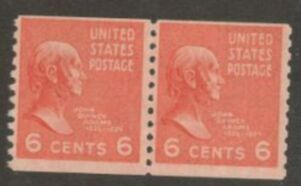 US Stamp # 846 MNH – Prexie Coil Pair – 6 cent