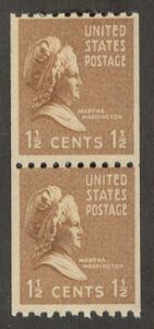 US Stamp # 849 MNH – Prexie Coil Pair – 11/2 cent