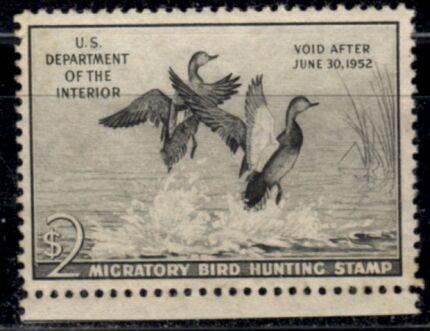 US Scott #RW18 MNH – GREAT Gadwall Ducks Taking Flight