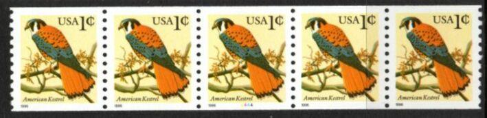US Stamp #3044 MNH – American Kestrel PNC5 (BYCM)