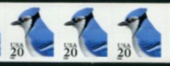 US Stamp #3053 MNH – Blue Jay Strip of 3