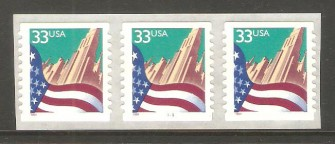 US Stamp #3281c MNH – Flag Over City PNC3 (Small Date)