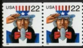 US Stamp #3353 MNH – Uncle Sam Coil Pair